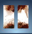 brown vertical modern banner paint splatter vector image vector image