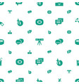 bubble icons pattern seamless white background vector image vector image