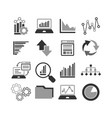 business infographic icons set charts and vector image vector image