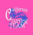 california surfing team vector image vector image
