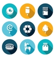 Candy Shop Icons Set vector image vector image