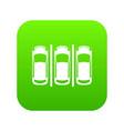 car parking icon digital green vector image vector image