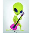 Cartoon Alien Guitar vector image vector image