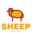 color stylized drawing of sheep vector image vector image