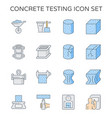 concrete testing icon vector image