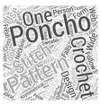 crochet poncho Word Cloud Concept vector image vector image