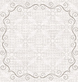 Damask background with vintage frame vector image