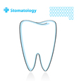 dental background with tooth vector image