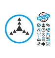 Direction Triangles Flat Icon with Bonus vector image vector image