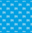 electric battery pattern seamless blue vector image vector image