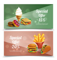 fast food banners set vector image