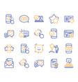 feedback line icons set of user opinion customer vector image