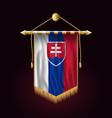 flag of slovakia festive vertical banner wall vector image vector image