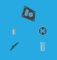 flat icon parts set of gasket packing belt and vector image vector image