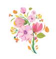 Flower Bouquet Watercolor Clipart vector image