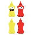 Funny Mustard and Ketchup vector image vector image