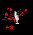 ghost with bloody scratch and creepy vector image