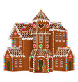 gingerbread big house vector image vector image