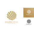 golden circle logo abstract line style vector image vector image