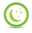 Green moon icon vector image