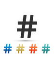 hashtag icon isolated social media symbol vector image