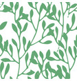 herbs and foliage green seamless pattern vector image