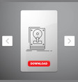 install drive hdd save upload line icon in vector image