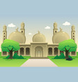 islamic mosque during daytime vector image vector image