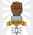 juneteenth day hand broken chain equality vector image vector image