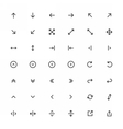 Line Arrow icon set vector image
