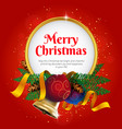 merry christmas greeting card or banner vector image vector image