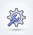 modern setting service maintenance icon vector image