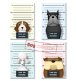 Mugshot of cute dogs holding a banner 2 vector image vector image