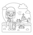 oceanologist coloring page vector image