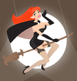 pin up witch vector image