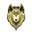 portrait of wolf beautiful vector image vector image
