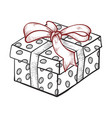 present line art icon holiday box for celebration vector image