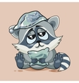 Raccoon cub drowsy vector image vector image