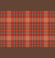 red brown check square pixel seamless background vector image vector image
