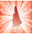 Red New Hampshire vector image vector image