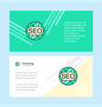 seo abstract corporate business banner template vector image