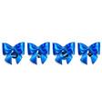 set big blue bows with sale labels vector image