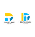 set hammer logo with letter d repair vector image vector image