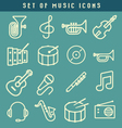 set music icons vector image vector image