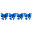 set of big blue bows with sale labels vector image