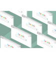 set of open tabs on the internet search isometric vector image vector image