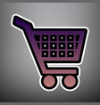 shopping cart sign violet gradient icon vector image vector image