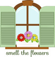Smell The Flowers vector image vector image