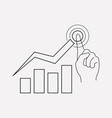 stock growth icon line element vector image