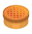 thanksgiving cake icon isometric style vector image